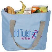 Shopper - strandtaske - med kraftige bærehåndtag