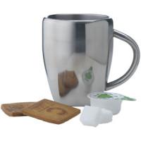 Kaffekrus i rustfrit stål  med lasergraveret logo - 2 modeller