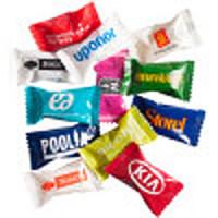Yeppos reklamebolsjer- pakkede bolcher med logo og vingummi