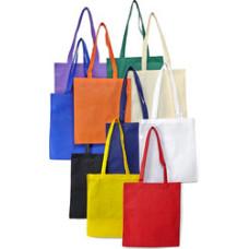 Bæreposer - billige indkøbsnet med logo - med lange stropper