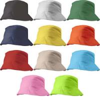 Bøllehat  - solhat - med tryk - 11 farver