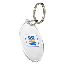 Nøglering -  med tryk- plastik nøgleringe - 5 farver