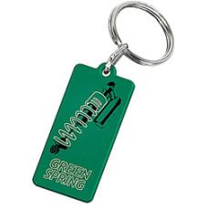 Nøglering -  med tryk - billige plast nøgleringe i 5 farver