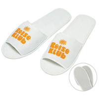 Badesko - frotte badetøfler - hotel slippers - med logo
