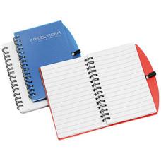 Notesbøger i plastomslag og spiral indbinding,