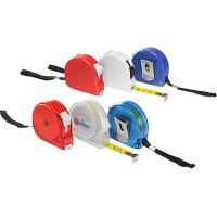 Målebånd - 2 meter bånd - 3 farver - med praktisk bærestrop