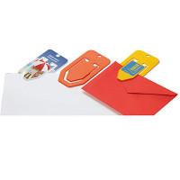 Clips - med tryk - papirclips med stor reklameflade