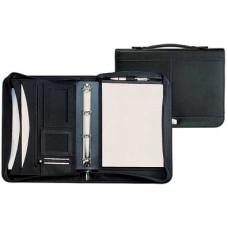 Dokumentmappe - A4 lædermappe med lynlås til iPad og Tablets