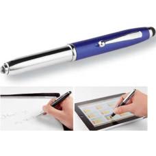 Touchpen - softpen - med LED lygte og kuglepen