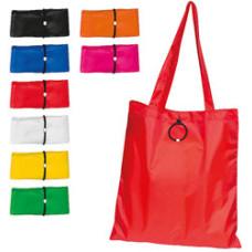 Shopper med logo - foldbare bæreposer