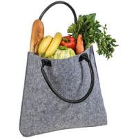 Filttaske - ny elegant filt shoppingtaske med logo