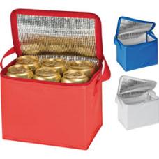 Køletaske med logo - passer til 6 stk. 0,5 liter dåser