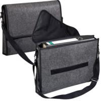 Skuldertaske - med tryk - College bag - elegant filttaske