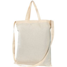 Shopper - naturfarvet miljøvenlig bomuldspose