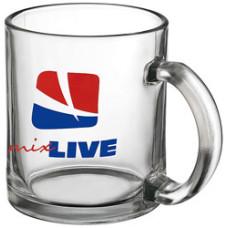 Kaffekrus - glaskrus med logo