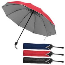 Paraply med logo - taskeparaply - kan blive str. XL