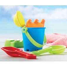 Strandlegetøj - børnespand med strandsæt