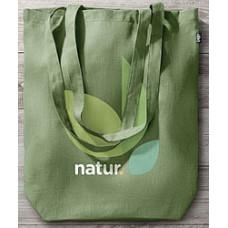 Indkøbsnet i miljøvenlig hamp til grøn reklame  - 6 farver