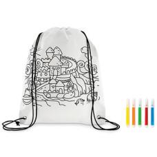 Skoposer - minirygsæk med 5 penne til farvelægning