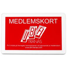 Plastkort  - velegnet som medlemskort - VIP kort - Klubkort - Kundekort