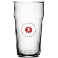 Drikkeglas med logo - en stor fad - rummeligt ølglas