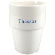 Kaffekrus med logo- Thassos firmakrus - stabelbart krus