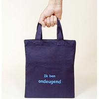 Mulepose - shopper -  i miljøvenlig bomuld