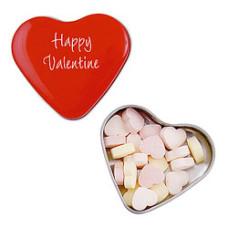 Hjerte Pastiller i  hjerteformet metalæske