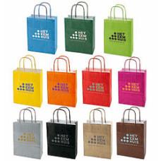 Papirsposer - med tryk - poser i 11 farver -3 størrelser