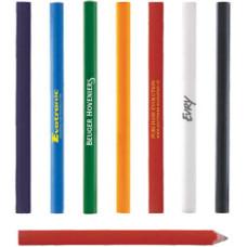 Tømrerblyanter - med tryk -  7 farver