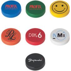 Magneter med logo - billig  køleskabsmagnet