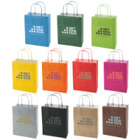 Papirsposer - bæreposer med tryk - 10 farver