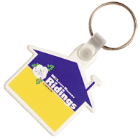 Nøgleringe med tryk - plastik nøgleringe