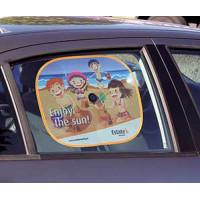 Solskærm til sideruderne i bilen