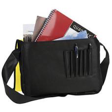 Dokumenttaske -skuldertaske med logo - let taske -10 farver