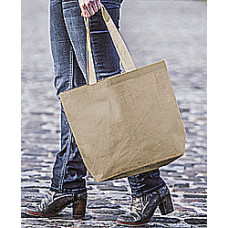 Jutetaske med tryk  - Elegance shopper