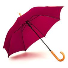 Paraply - med logo - automatisk åbning og stormsikring