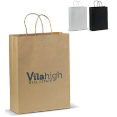 Papirpsoser med tryk - bæreposer med Øko look