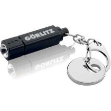 Led lygter - LED lommelygte med nøglering og metalpolet